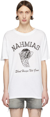 Nahmias White Shoot Hoops T-Shirt