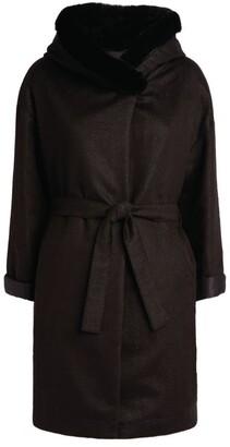 Herno Fox-Trim Lurex Coat