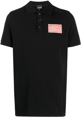 Just Cavalli Riders patch polo shirt