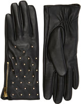 "Oasis LEATHER STUD GLOVES [span class=""variation_color_heading""]- Black[/span]"