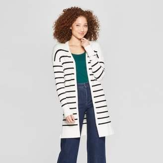 Women's Striped Long Sleeve Open Cardigan - A New DayTM