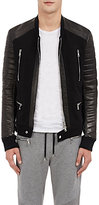 Balmain MEN'S COMBO MOTO JACKET