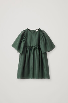 Cos Short-Sleeved Tulle Dress