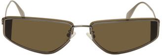 Alexander McQueen Gunmetal Skull Sunglasses