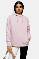Topshop Lilac Panel Relaxed Hoodie