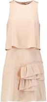 Tibi Sophia layered pleated silk crepe de chine mini dress