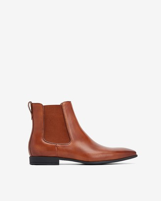 Express Genuine Leather Chelsea Boots