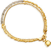 Astley Clarke Biography Earth Element labradorite and 18ct gold-plated bracelet