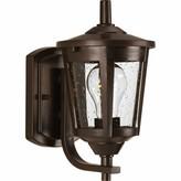 """575 Denim Meador Outdoor Wall Lantern Alcott Hill Fixture Finish: Antique Bronze, Size: 10.38"""" H x W x 7"""" D"""