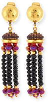 Jose & Maria Barrera Crystal Tassel Clip-On Earrings
