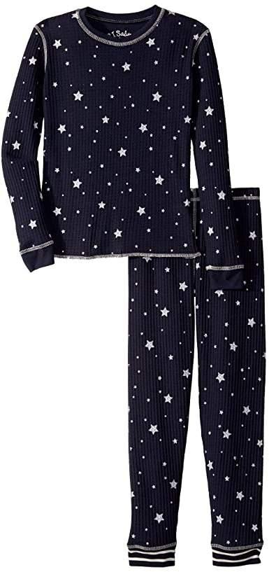 PJ Salvage Kids Dream Mix Star Thermal Two-Piece Jammie Set (Toddler/Little Kid/Big Kid)