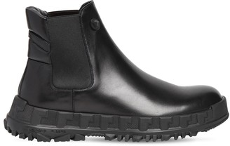 Versace Chain Sole Leather Chelsea Boots