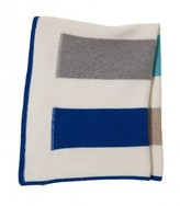 The Well Appointed House 100% Cashmere Blue Stripes Baby Blanket