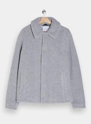 Topman Grey Borg Shetland Coach Jacket