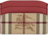 Burberry Haymarket check-print leather card case