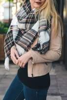 Leto Plaid-Brown Blanket Scarf