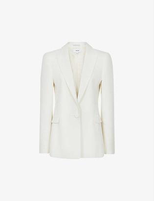 Reiss Leigh single-breasted wool-blend tuxedo blazer