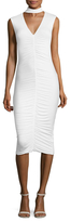 Bailey 44 Choker Ruched Sheath Dress
