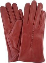SNUGRUGS Ladies Butter Soft Leather Glove with Woven Stitch Design & Warm Fleece Lining
