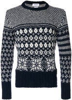 Thom Browne patterned crew neck sweater