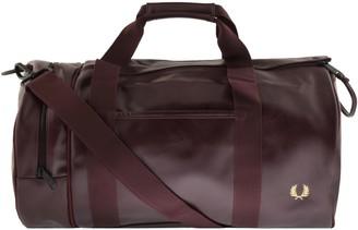 Fred Perry Twin Tonal Barrel Bag Burgundy