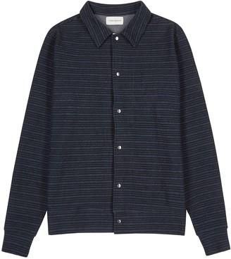 Oliver Spencer Rundell Navy Striped Jersey Jacket