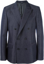 Alexander McQueen double breasted jacket - men - Viscose/Mohair/Wool - 48