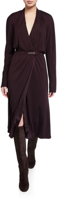 Loro Piana Jane Cashmere-Jersey Wrap Dress