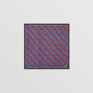 Burberry Monogram Print Cotton Silk Large Square Scarf