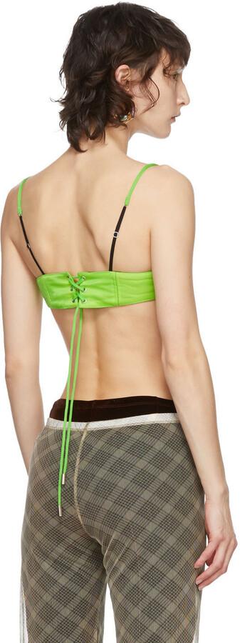 Thumbnail for your product : Supriya Lele Green Mini Corset Bra