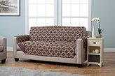 Home Fashion Designs Adalyn Collection Printed Stain Resistant Furniture Protector Sofa, Chocolate