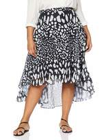 Lost Ink Plus LOST INK PLUS Women's Skirt with Animal Print