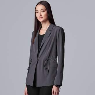 Vera Wang Women's Every Day Movement Simply Vera Everyday Drawstring Blazer