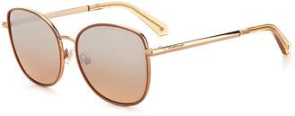 Kate Spade Maryam Oversized Stainless Steel Cat-Eye Sunglasses
