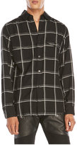 Saint Laurent Black & White Check Shirt