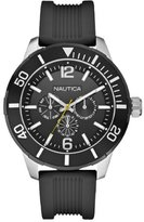 Nautica NSR 11 Men's Quartz Watch with Black Dial Chronograph Display and Black Resin Strap A14623G