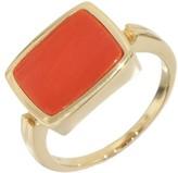 Mikimoto 14K Yellow Gold Coral Band Ring Size 4.25