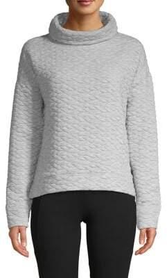 Calvin Klein Quilted Funnelneck Pullover