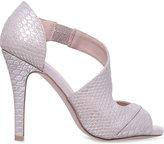 Miss KG Flow metallic peep-toe courts