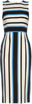 Dolce & Gabbana Sleeveless riga striped silk-blend dress