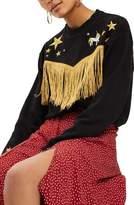 Topshop by Tee & Cake Western Fringe Sweatshirt