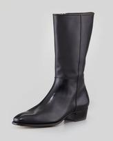 Gravati Mid-Calf Side-Zip Boot, Black