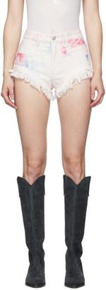 Isabel Marant White Painted Eneida Shorts