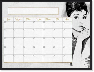 Oliver Gal Beautiful Woman Monthly Calendar Whiteboard Office Dry Erase Board By The Artist Co.