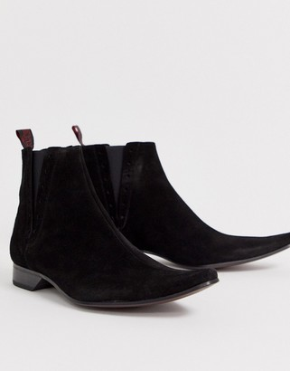 Jeffery West Pino chelsea boot in black suede