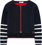 Junior Gaultier Zip wool blend cardigan