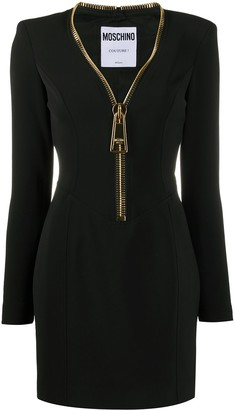 Moschino Giant Zipper Mini Dress