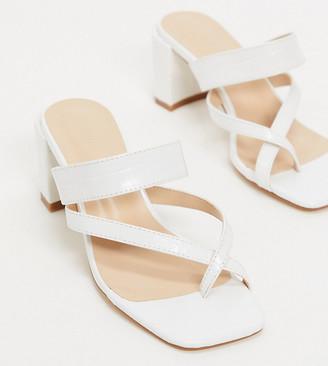 Z Code Z Z_Code_Z Exclusive Neema vegan block heel sandals in white croc