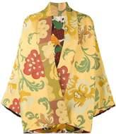 Rianna + Nina floral embroidered short kimono jacket