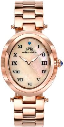 Porsamo Bleu Women's South Sea Swarovski Crystal Bracelet Watch, 30.75mm